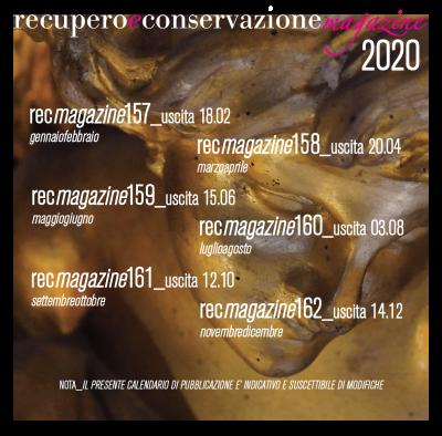 calendario pubblicazioni recmagazine 2020