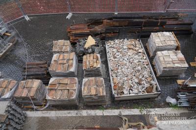 deposito materiali recuperati per riutilizzo