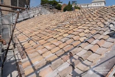 tetto completato San Giuseppe dei Falegnami