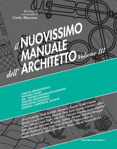 copertina Manuale dell'Architetto