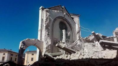 rec146_San Benedetto a Norcia, vista dei crolli