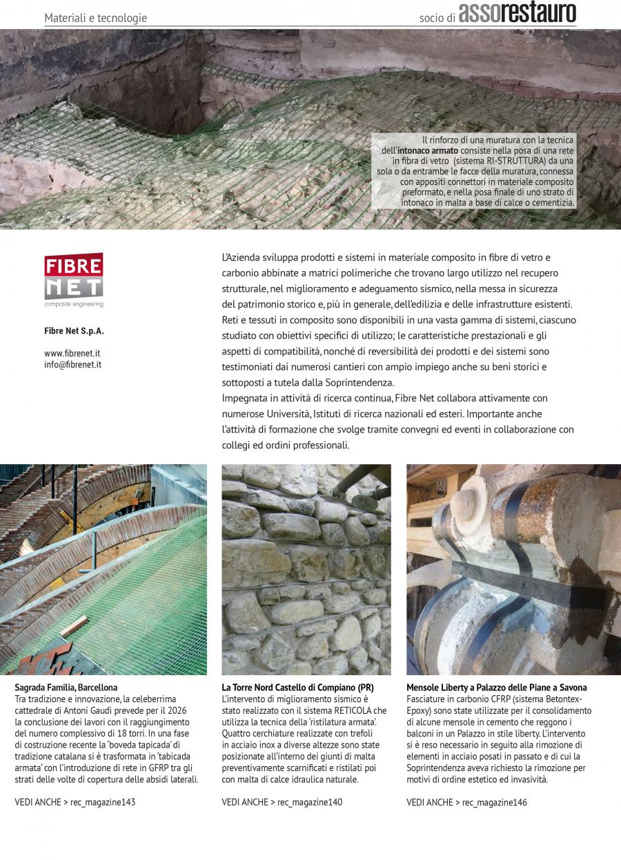Interventi Di Consolidamento Murature.Fibre Net Rec Magazine Recupero E Conservazione Magazine